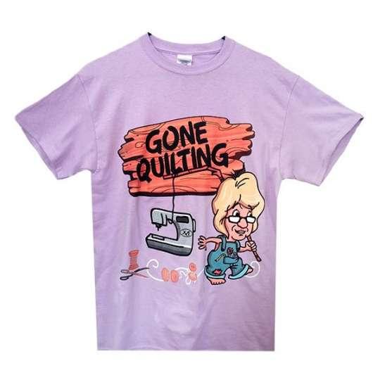 Gone Quilting T-Shirt, Large: shop.martellinotions.com : gone quilting - Adamdwight.com