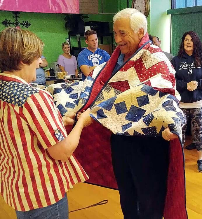 Martelli quilting company honors veterans
